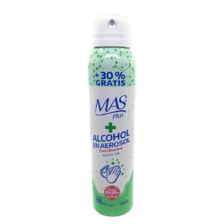 ALCOHOL EN AEROSOL DESINFECTANTE CON GLICERINA 195ml 1